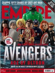 Empire Magazine - reimagined in Lego / I prefer this cover to the one it's got. Thought I'd share so DJ can see it.