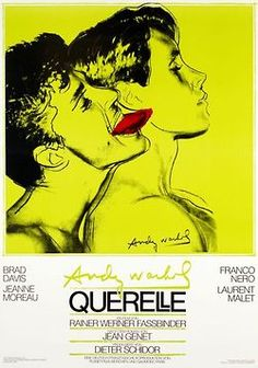 Andy Warhol, poster design for movie Querelle by Rainer Werner Fassbinder, based on Jean Genet's book, 1982.