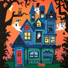Free printable Spooky House Halloween Countdown Calendar