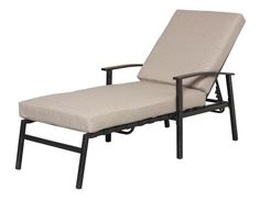 Gatewood for Allen roth tenbrook extruded aluminum patio chaise lounge