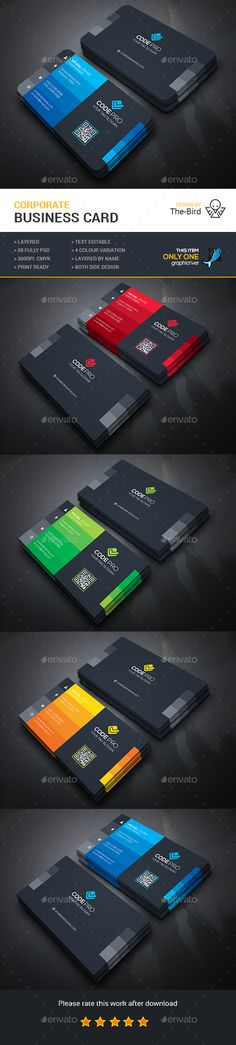 Corporate Business Card Template PSD. Download here: http://graphicriver.net/item/corporate-business-card/14890266?ref=ksioks