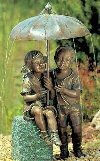 Water Sculpture, Bronze Sculpture, Sculpture Art, Garden Water Fountains, Fountain Design, Water Features In The Garden, Angel Statues, Garden Statues, Garden Ornaments