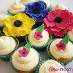 Lemon Flower Cupcakes