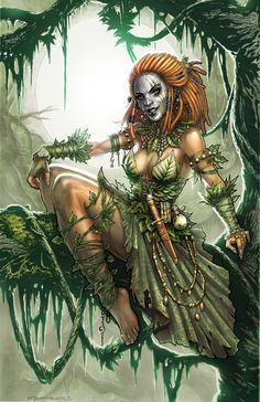 Voodoo Witch Doctor Poison Ivy by Zach Fischer Comics and Illustration