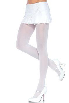 Pefect Pair of White Nylon Tights in OS Узорчатые Колготки, Цветные Колготки,  Сексуальные Чулки 7e76c18407b
