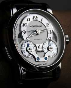A beautiful close up of this Montblanc Nicolas Rieussec Chronograph Automatic Watch.