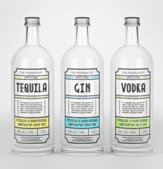 Tequila Gin Vodka #packaging