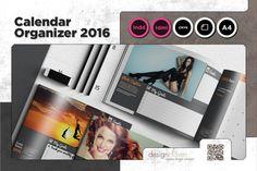 Calendar/Organizer 2016 Template by Spyros Thalassinos on Creative Market