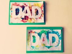 Finger Painted Father's Day Card | Clare's Little Tots
