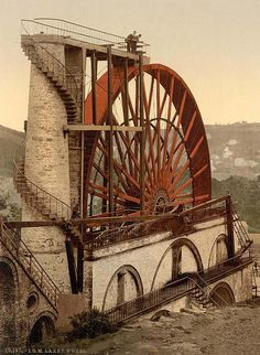 Laxey Wheel, Isle of Man, England    Taken between 1890 and 1900