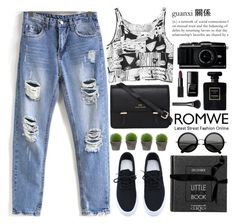 """""""ROMWE22"""" by m-zineta ❤ liked on Polyvore featuring Broste Copenhagen, Monki, Sloane, NARS Cosmetics, le top, Chanel and Gucci"""