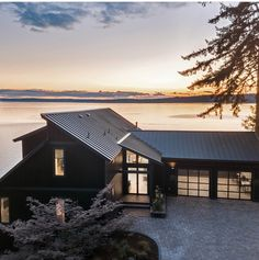 Enter the HGTV Dream Home 2018 Sweepstakes for a chance to win a waterfront retreat in Gig Harbor, Washington, a Honda Accord, and a . Hgtv Dream Home Winners, Hgtv Dream Homes, Black Exterior, Exterior Paint, Exterior Design, Greys Anatomy Brasil, Open Space Living, Waterfront Homes, Honda Accord