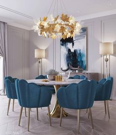 Modern dining chairs are every bit as important as your luxury dining table, so we reckon it's about time we pay them the attention they deserve. Luxury Dining Room, Dining Room Design, Room Interior, Home Interior Design, Luxury Interior, Dining Room Inspiration, Inspiration Design, Design Ideas, Design Trends