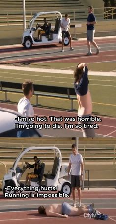 """I'm so hot! That was horrible! I'm going to die! I'm so tired! Everything hurts! Running is impossible!!"" - I agree, Andy!"