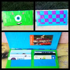 Monsters INC. Duct tape wallet by MorgsCreations on Etsy, $25.00