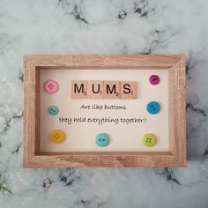 Mum Scrabble Art Picture, Oak Effect Frame, Wall Art, Scrabble Tiles Scrabble Letter Crafts, Scrabble Tile Crafts, Scrabble Frame, Scrabble Coasters, Scrabble Ornaments, Diy Mothers Day Gifts, Diy Gifts, Frames On Wall, Framed Wall Art