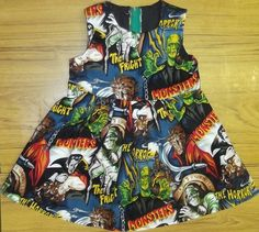 Baby girl Horror Movie Monsters dress Rockabilly gothic Party Goth Emo 12 months | eBay
