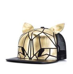 Fashion Pu Bunny Ears Summer Women Baseball Cap Men Hip Hop Hat 260