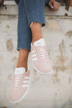 Pink Tennis Shoes | Adidas Gazelle #TennisShoes
