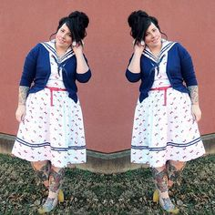 #iamunique Style Society blogger Kaelah is fabulously Nauti in our Bon Voyage Dress! #uniquevintage