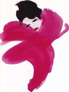 Tendresse by René Gruau.  Few lines for an ocean of  emotions.