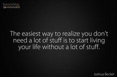 Start living without stuff