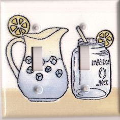 Mason Jar Switch Plate by Adrienne Blum Enamels. American Made. See the designer's work at the 2016 American Made Show, Dallas,TX. January 21-24, 2016. americanmadeshow.com #americanmadeshow, #americanmade, #switchplate, #masonjar January 21, Enamels, Switch Plates, American Made, Dallas, Mason Jars, Kitchen, Gourmet, Cooking