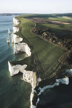 These cliffs were formed 60 million years ago and thought to once have been connected to the Isle of Wight