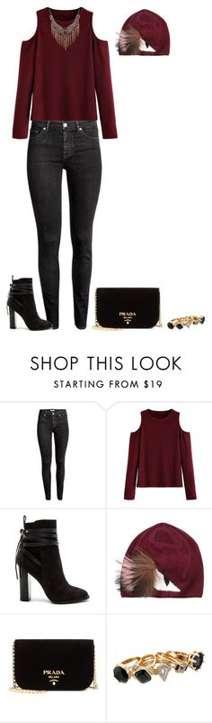 """""""Untitled #545"""" by natasha-hovsepian ❤ liked on Polyvore featuring H&M, WithChic, Steve Madden, Fendi, Prada and GUESS"""