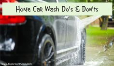 Hand car washing with a pressure washer to remove road grime of a black Audi SUV. Wash Car At Home, Hand Car Wash, Black Audi, Green Tips, Save Water, Car Detailing, How To Remove, Green Purse, Audi Suv