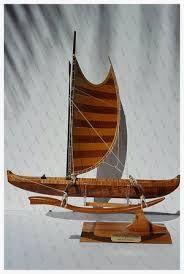 Image result for POLYNESIAN CATAMARAN Wooden Model
