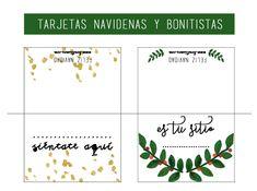 Ideas y un imprimible para saber dónde me siento en la mesa de Navidad Merry Christmas, Projects To Try, Printables, Blog, Christmas Decor, Napkins, Frases, Free Printable Bookmarks, Christmas Napkins