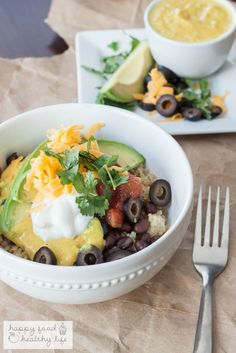 A protein-packed bowl full of fresh deliciousness happy food healthy life b Dinner Recipes For Kids, Healthy Dinner Recipes, Great Recipes, Cooking Recipes, Favorite Recipes, Delicious Meals, Popular Recipes, Lunch Recipes, Easy Recipes