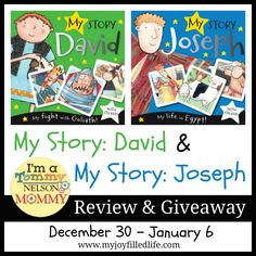 My Story: David & My Story: Joseph Children's Book review and giveaway - ends 1/6