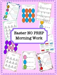 Easter NO PREP Morning Work by A Thinker's Toolbox.  Morning time is such an important time for me and my students. Some are excited to be there while others struggle to get started. This morning work packet includes 20 NO PREP blackline worksheets that will ignite your student's learning. (10 Math and 10 ELA)