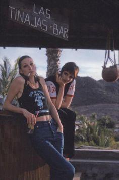 Anjelica Huston & Liza Minnelli, 1975