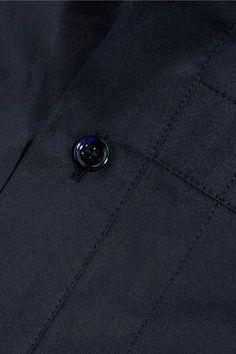 Balenciaga - Cotton-poplin Dress - Navy - FR34