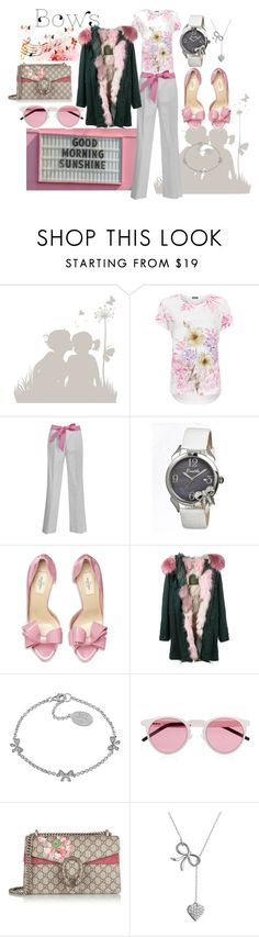 """""""Sweetest thing"""" by mistd ❤ liked on Polyvore featuring Music Notes, ADZif, WearAll, Valentino, Bertha, Mr & Mrs Italy, Laura Ashley, Illesteva, Gucci and Target"""