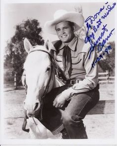 "Sunset Carson and horse ""Cactus"".  He used to be Buck Jones' horse, Silver.  After Jones died Carson took the horse, changed his name to Cactus and made about 24 more films. - Horses of Famous Western Movie Stars and their Sidekicks"