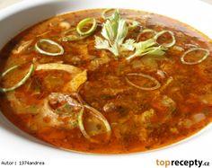 Slepičí dršťková polévka Russian Recipes, Thai Red Curry, Cooking, Ethnic Recipes, Soups, Polish, Kitchen, Vitreous Enamel, Soup
