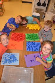 A Place Called Kindergarten: math (Different Math Activities for Daily 5 Math) scramble and have them sort Kindergarten Colors, Kindergarten Centers, Preschool Math, Kindergarten Classroom, Fun Math, Teaching Math, Math Centers, Maths, Teaching Ideas