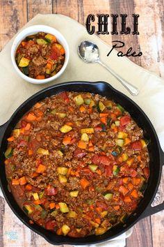 Chili Paleo de Carne y Verduras. El mejor chili, que además de abundante está delicioso, y sin echar de menos los frijoles.