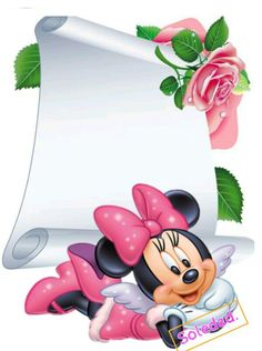 De Soledad Disney Background, Birthday Background, Borders For Paper, Borders And Frames, Mickey Mouse Frame, Cute Scrapbooks, Background Images For Editing, Disney Stars, Paper Frames