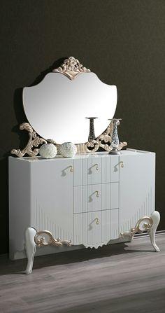 Cute Furniture, Royal Furniture, Home Decor Furniture, Luxury Furniture, Bedroom Closet Design, Bedroom Decor, Bed Back Design, Bed Headboard Design, Dressing Table Design