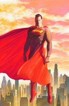Superman, by Alex Ross. I don't even like Superman, and this is great Comic Book Artists, Comic Book Characters, Comic Artist, Comic Character, Comic Books Art, Superman Lois, Superman Man Of Steel, Superman Family, Alex Ross