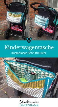 Kinderwagentasche Kinderwagen-Organizer Große Tasche kostenloses Schnittmuster Gratis-Nähanleitung
