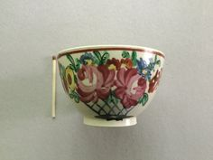 Creamware cup with unusual  painting