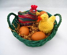 Ravelry: Chicken and Duck Egg Cozies (Easter) pattern by Claudia Lowman Baby Hat Knitting Patterns Free, Free Pattern, Crochet Patterns, Octopus Crochet Pattern, Chicken Pattern, Chicken Crafts, Silly Putty, Plastic Easter Eggs, Easter Crochet