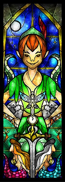 Peter Pan (Stained Glass)