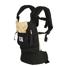 ERGObaby Baby Carrier - Black with Camel Lining